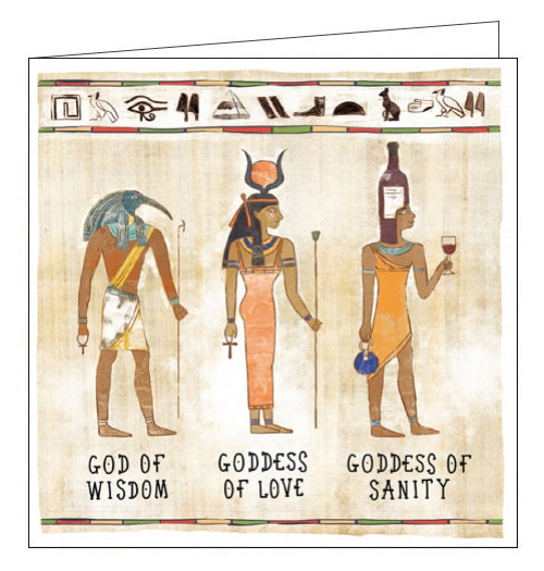 Woodmansterne ancient egypt goddess of sanity in de nile card