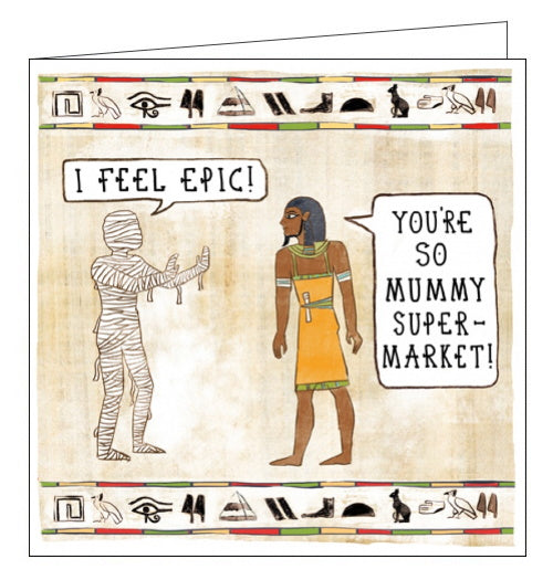 Woodmansterne ancient egypt mummy supermarket in de nile card