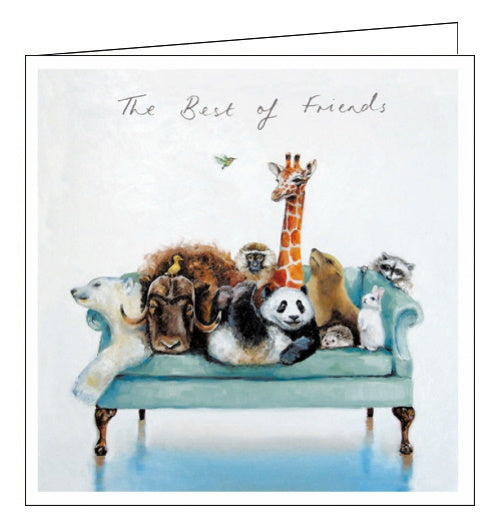 Woodmansterne best of friends animals blank card