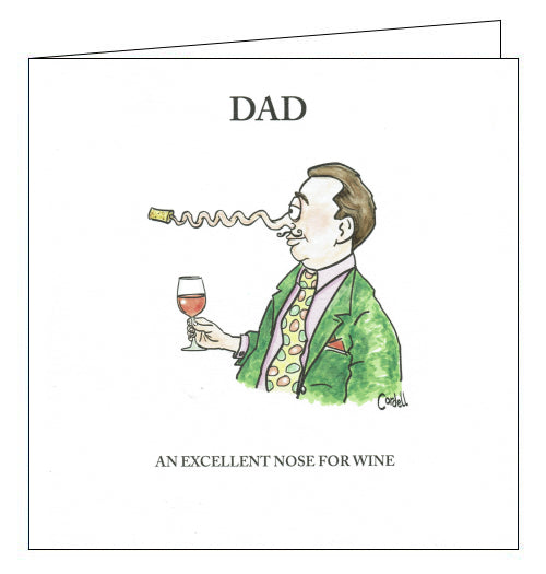 Woodmansterne cordell cartoons nose for wind dad birthday card