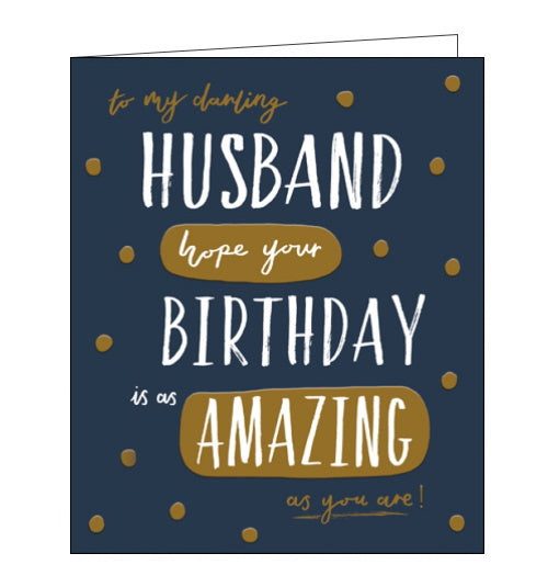 Woodmansterne darling husband birthday card