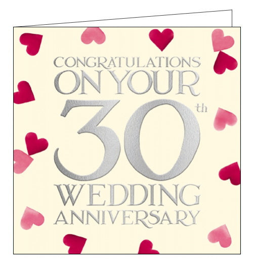 Woodmansterne emma bridgewater 30th wedding anniversary card