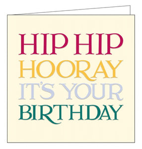 Woodmansterne emma bridgewater hip hooray birthday card