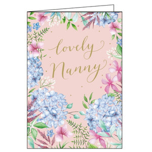 Woodmansterne flowers nanny birthday card