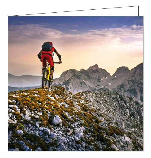 Woodmansterne framed mountain biking birthday card