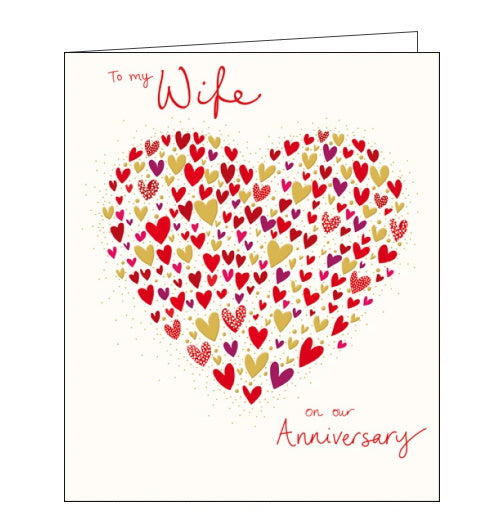 Woodmansterne heart of hearts wife anniversary card