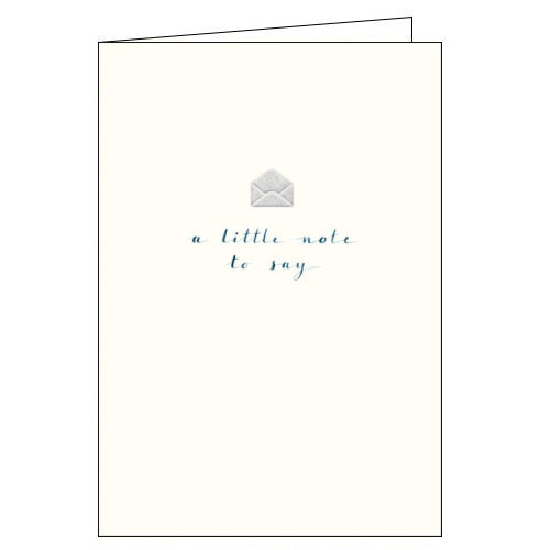 Woodmansterne little note to say thank you card