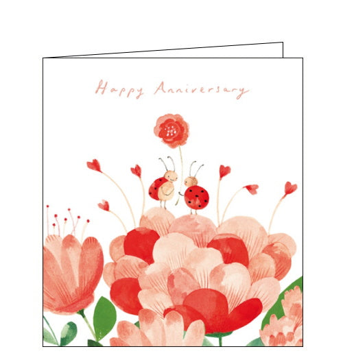 Woodmansterne lovebugs ladybirds anniversary card