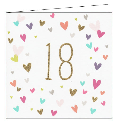 Woodmansterne love hearts 18th birthday card