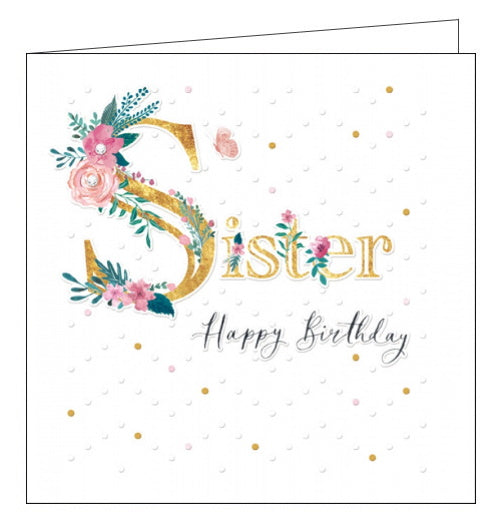 Woodmansterne luxury sister birthday card