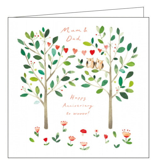 Woodmansterne mum and dad on your anniversary cardWoodmansterne mum and dad on your anniversary card