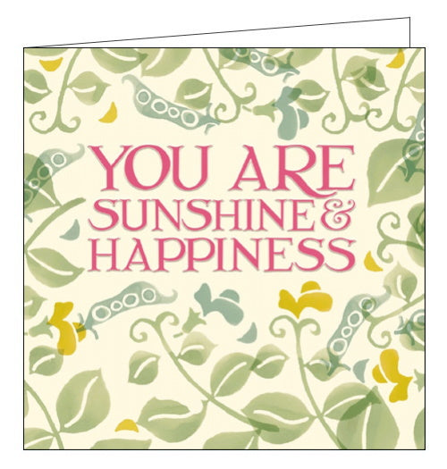 Woodmansterne peapods sunshine and happiness emma bridgewater card