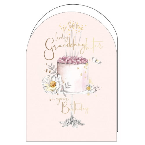 Woodmansterne pink birthday cake granddaughter birthday card