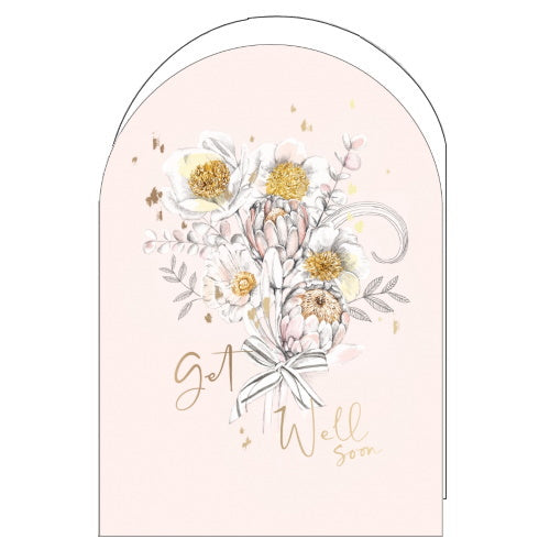Woodmansterne pink get well soon card