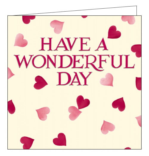 Woodmansterne pink hearts red emma bridgewater birthday card