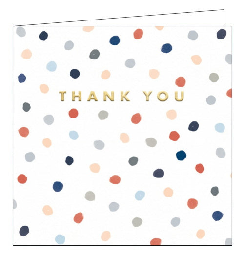 Woodmansterne polka dots thank you card
