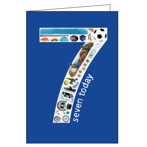 Woodmansterne sports and technology 7th birthday card