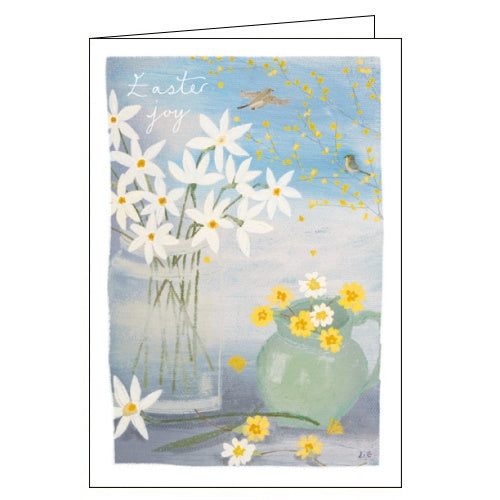 Woodmansterne spring flowers birds lucy grossmith easter card