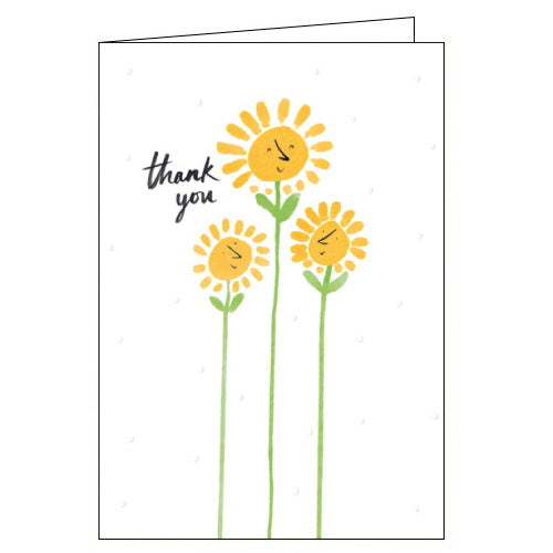 Woodmansterne sunflowers thank you card