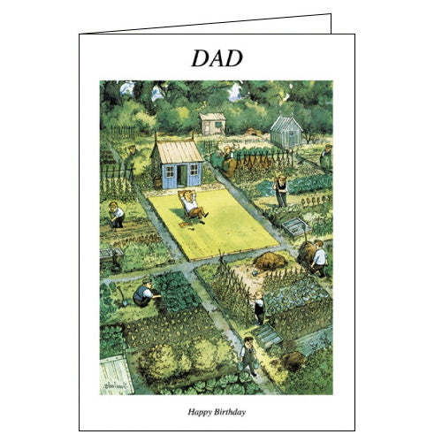 Woodmansterne thelwell punch managazine allotment birthday card for dad