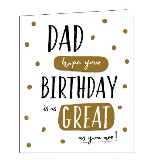 Woodmansterne wonderful dad birthday card