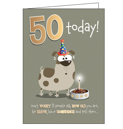 50 Today - birthday card