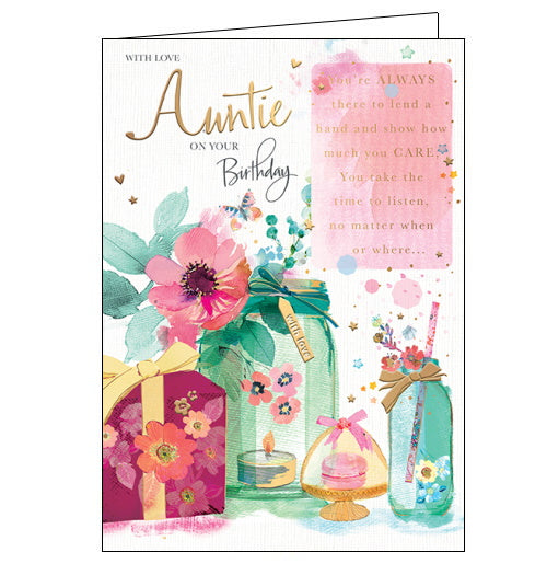 Auntie - Birthday Card