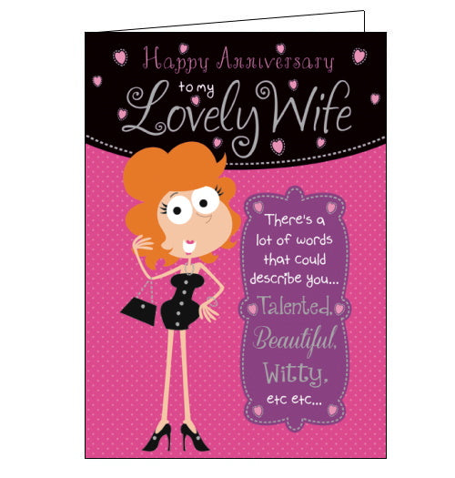 Lovely Wife - Anniversary Card