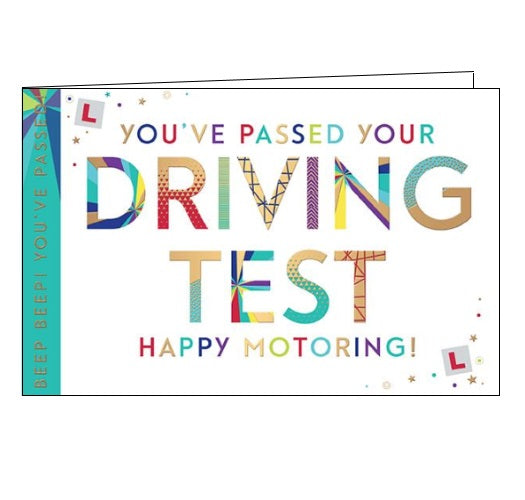 Words 'n' Wishes congratulations card you passed your driving test Nickery Nook