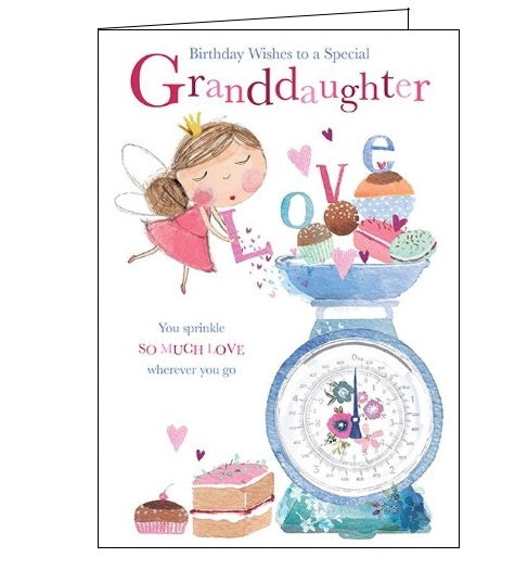 Words 'n' Wishes fairies granddaughter birthday card Nickery Nook