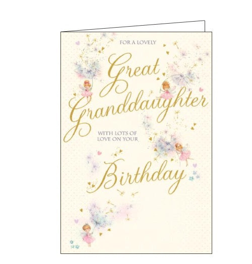 Words 'n' Wishes for a lovely great granddaughter birthday card Nickery Nook