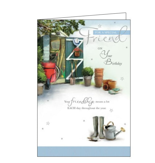 Words 'n' Wishes gardening for a special friend birthday card Nickery Nook