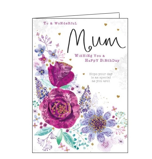 Words 'n' Wishes happy birthday wonderful mum birthday card Nickery Nook