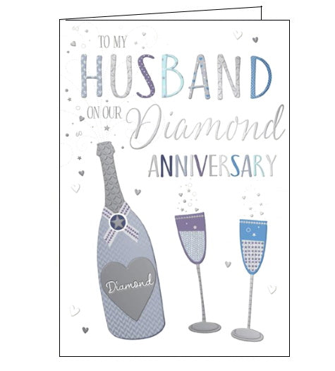 Words 'n' Wishes husband on our diamond 60th anniversary card Nickery Nook
