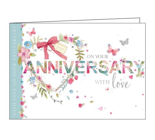 Words 'n' Wishes on your anniversary card Nickery Nook