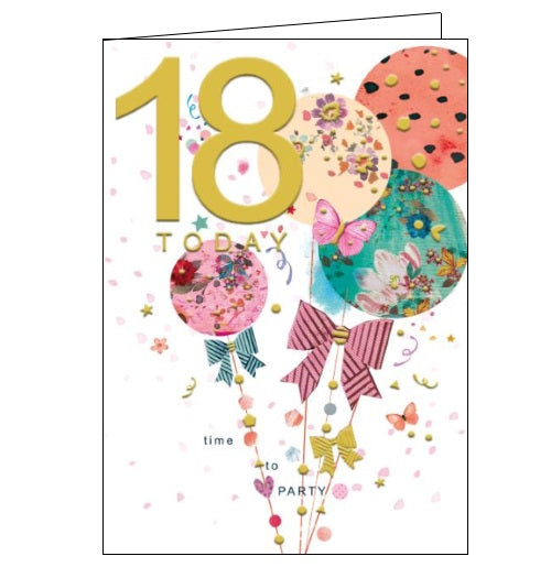 Words 'n' Wishes pinata 18th birthday 18 today birthday card Nickery Nook