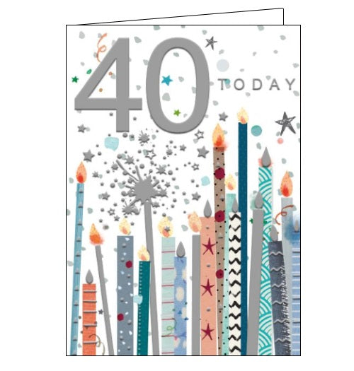 Words 'n' Wishes pinata 40th birthday 40 today birthday card Nickery Nook