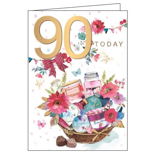 Words 'n' Wishes pinata 90th birthday 90 today birthday card for her Nickery Nook