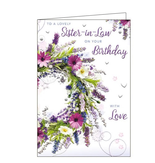 Words 'n' Wishes sister-in-law birthday card Nickery Nook