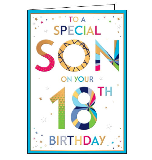 Words 'n' Wishes special son on your 18 birthday card