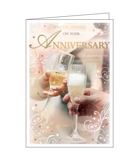 Words 'n' Wishes special wishes on your anniversary card Nickery Nook
