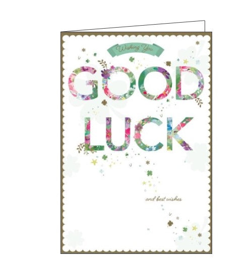 Words 'n' Wishes wishing you good luck good luck and best wishes card Nickery Nook