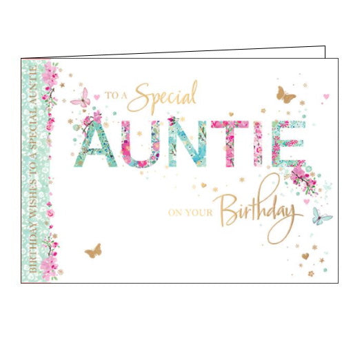 Words 'n' Wishes auntie birthday card