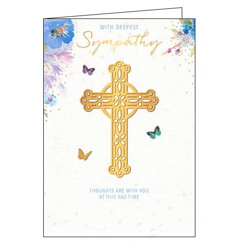 Words_n_Wishes christian cross sympathy card