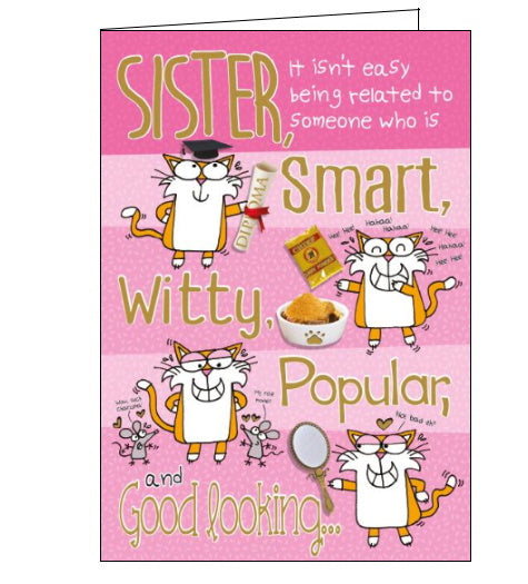 Words 'n' Wishes funny sister birthday card
