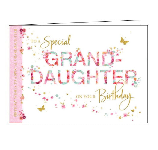 Words 'n' Wishes granddaughter birthday card