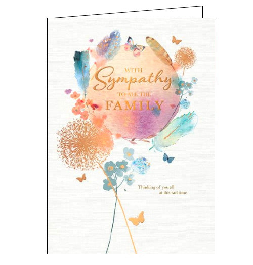 Words 'n' Wishes to all the family sympathy card
