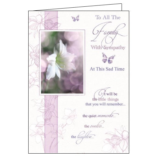 Words 'n' Wishes to all the family with sympathy card