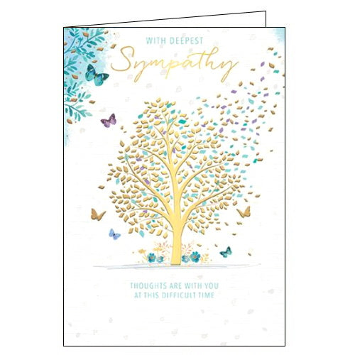 Words 'n' Wishes with deepest sympathy card