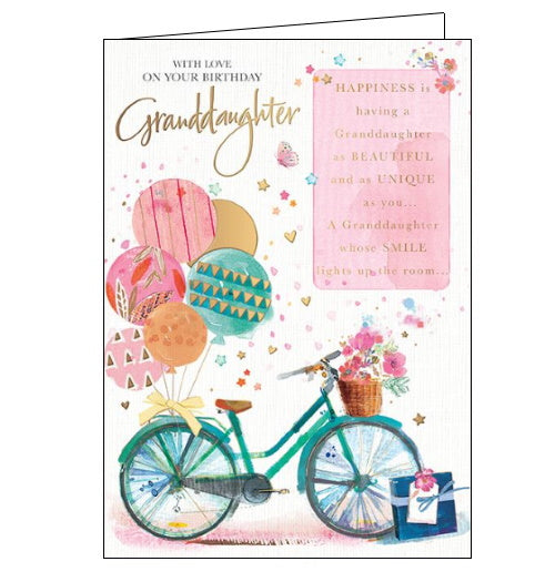 Words and Wishes granddaughter birthday card
